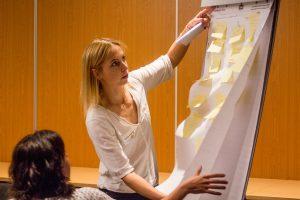 Meedenken in de workshop met dr. Nanja van Geel.
